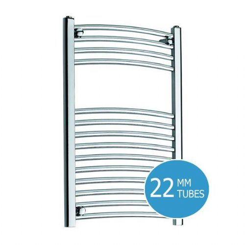 Kartell K-Rail Curved Towel Rail - 500mm x 800mm - Chrome